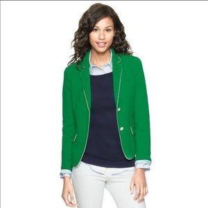 GAP The Academy Green Cotton Blazer Size 10